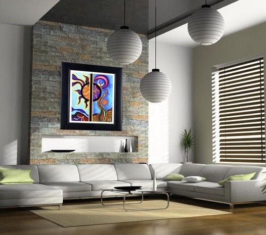 Idee per arredare casa con i quadri antichi e moderni for Idee quadri soggiorno